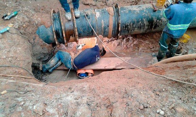 Manutenção de rede de água
