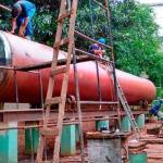Projeto de reservatórios metálicos