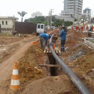 Tubulação em PEAD para adução de água potável
