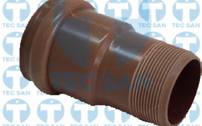 Adaptador pvc junta elástica ponta-bolsa-anel (PBA) e rosca BSP