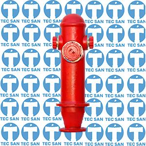 Coluna para hidrante de calçada