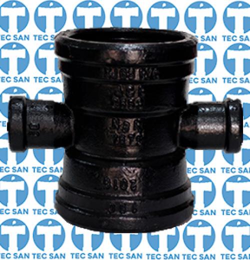 Cruzeta ferro fundido com bolsas JGS derivação ponta-bolsa-anel (PBA)