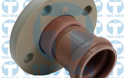 Extremidade pvc bolsa junta elástica ponta-bolsa-anel (PBA) e flange