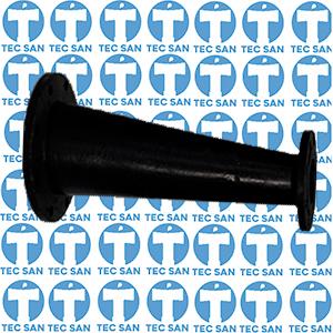 Redução ferro fundido flanges excêntrica