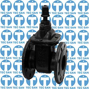 Registro ferro fundido flangeado ductil preto