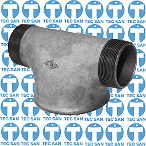 Te galvanizado redução para hidrante