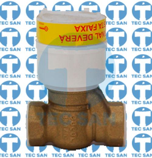 Válvula bronze chuveiro pressmatic - chrome
