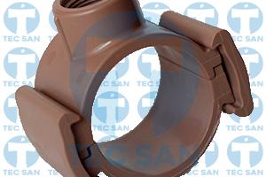 Colar tomada PVC junta soldável (JS) ou ponta-bolsa-anel (PBA) saída rosca interna BSP