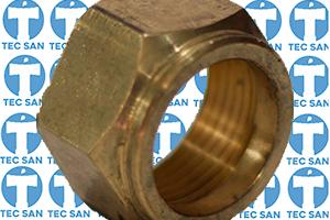 Porca bronze para tubete