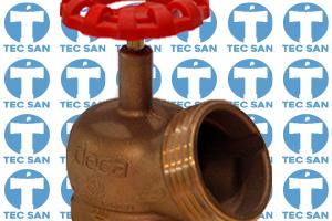 Válvula bronze globo 45° industrial com engate rápido