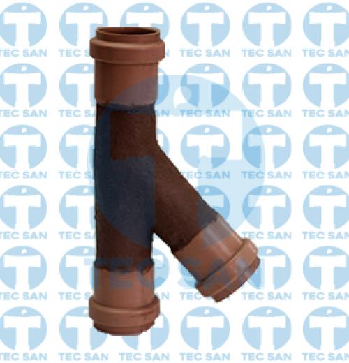 Junção pvc junta elástica ponta-bolsa-anel (PBA)