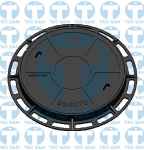 Tampão ferro fundido nodular p/ PV de 600mm, TD 500 B