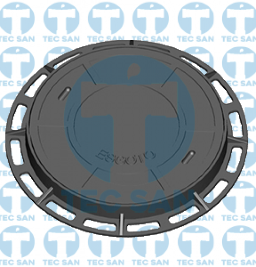 Tampão ferro fundido nodular p/ PV de 600mm, TD 500 C