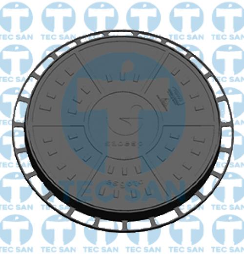 Tampão ferro fundido nodular p/ PV de 900mm, TD 900 para Saneamento