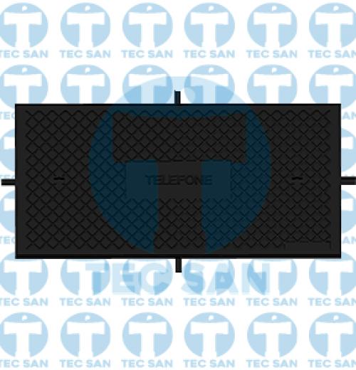 Tampão ferro fundido R-2 simples para Telefonia