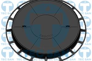 Tampão ferro fundido nodular p/ PV de 600mm, TD 600