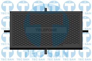 Tampão ferro fundido R-1 simples para Telefonia