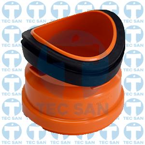 Selim pvc compacto para tubo esgoto ocre liso