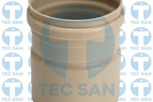 Adaptador ponta bolsa pvc esgoto ocre para esgoto branco