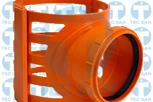 Selim pvc com travas para tubo esgoto ocre liso ou corrugado